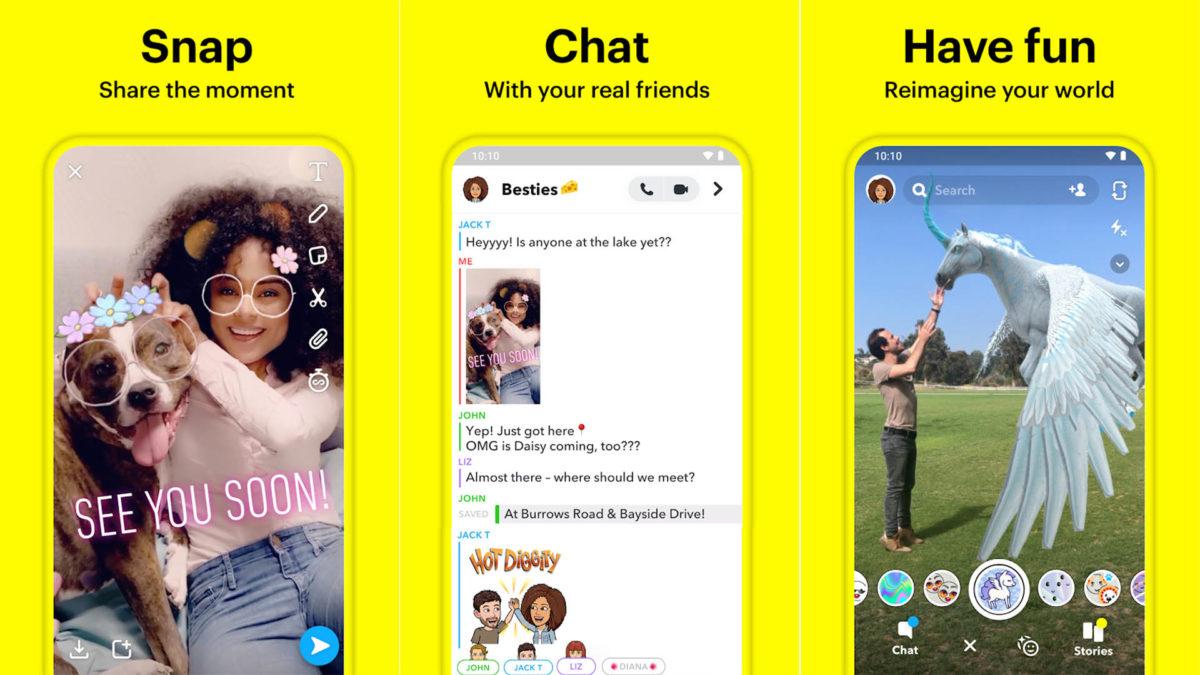 Zrzut ekranu Snapchata 2019 finał