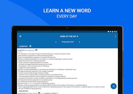 Oxford Dictionary of English: darmowy zrzut ekranu