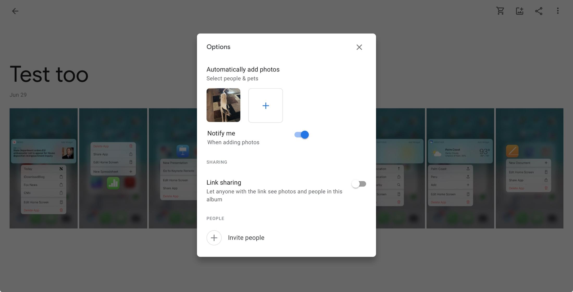 Automatická aktualizácia fotoalbumu online spoločnosti Google