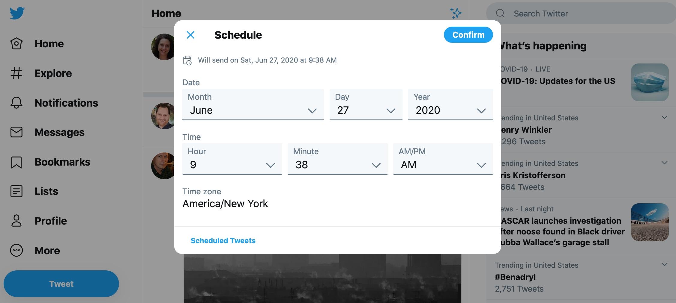 Ako plánovať tweet Twitter - sieť