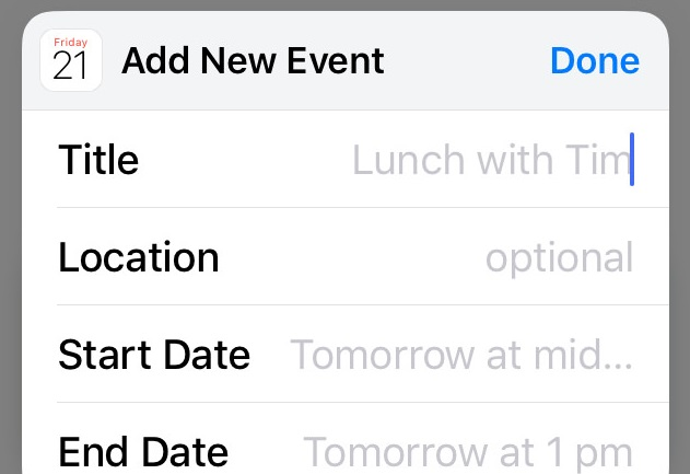 Nie można usunąć wydarzenia kalendarza w iOS