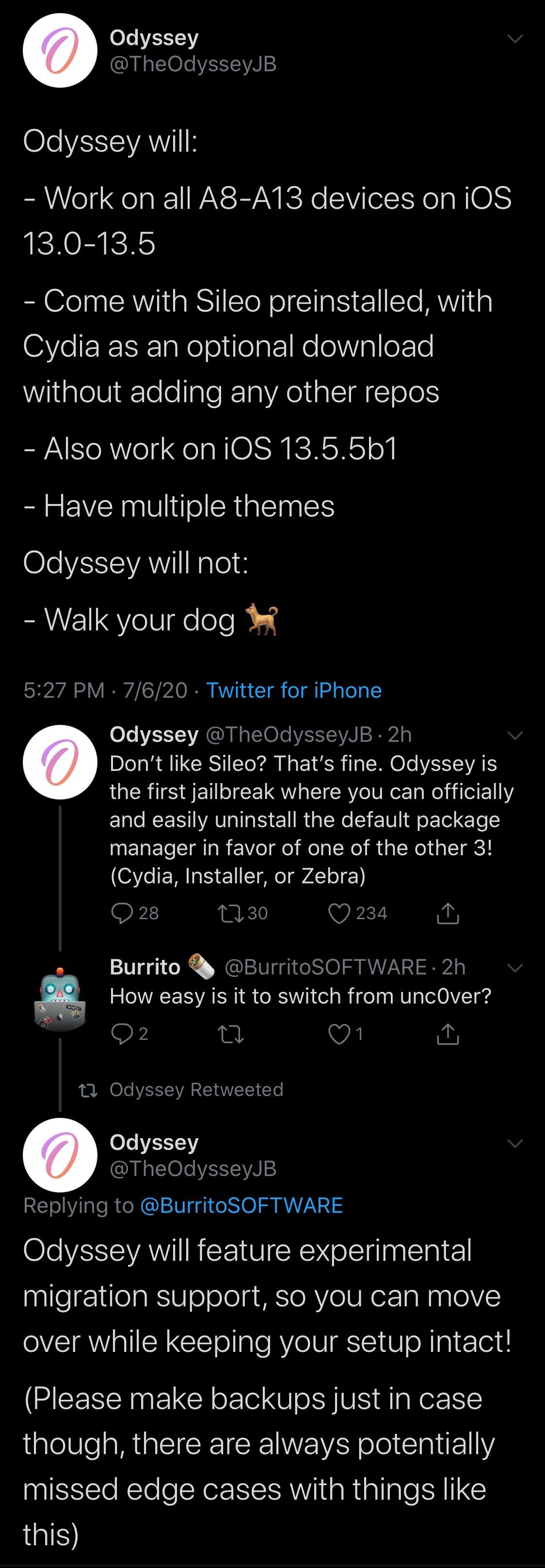 Útek z väzenia IOS 13 Odyssey sa chystá na oficiálne spustenie Twitter návrh zákona ožíva 2