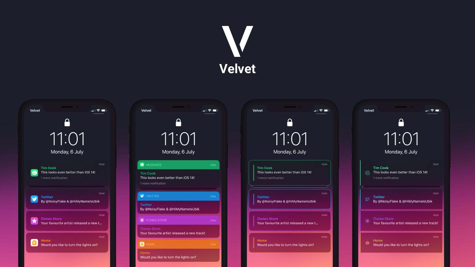 Prispôsobte si upozornenia a vzhľad miniaplikácie telefónu pomocou Velvet 1