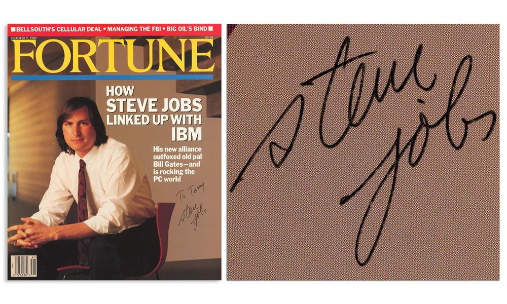 Steve Jobs Signed Fortune Magazine Cover