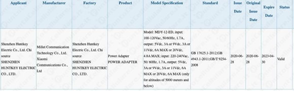 Zobacz obrazy ładowarki Xiaomi o mocy 120 W. 13