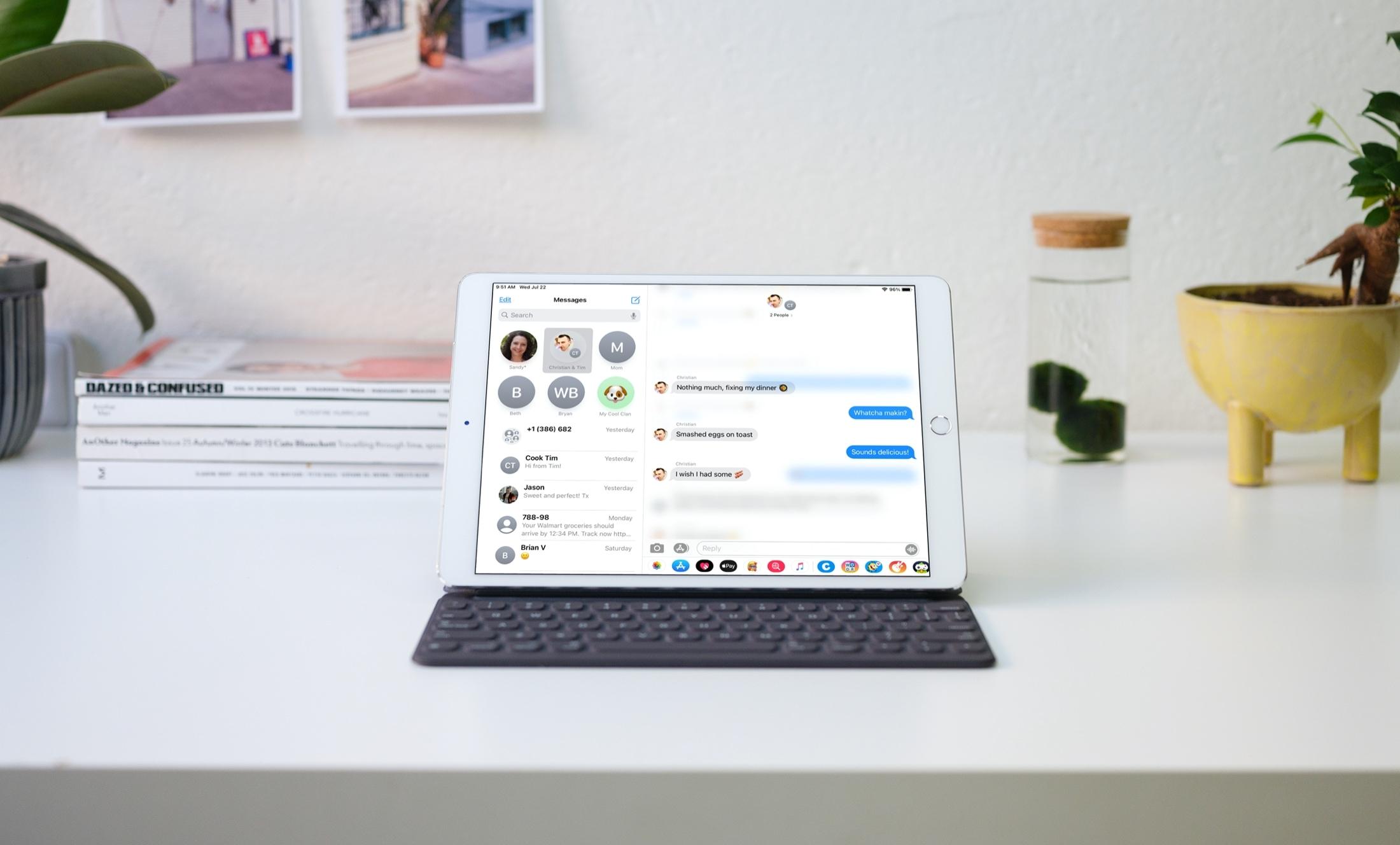 Odpovede vložené do správ na vašom iPade