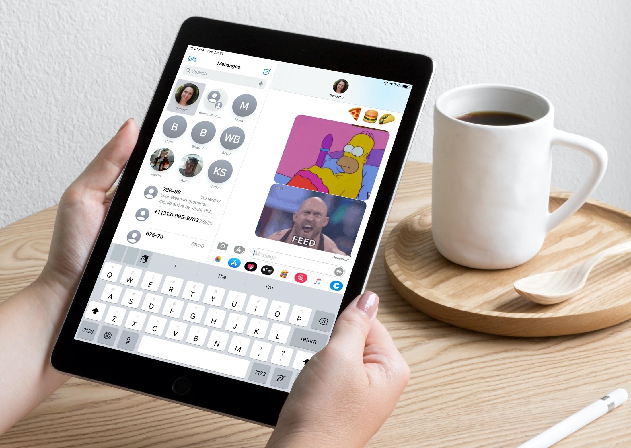 Pripnite konverzácie do aplikácie Správy na vašom iPade