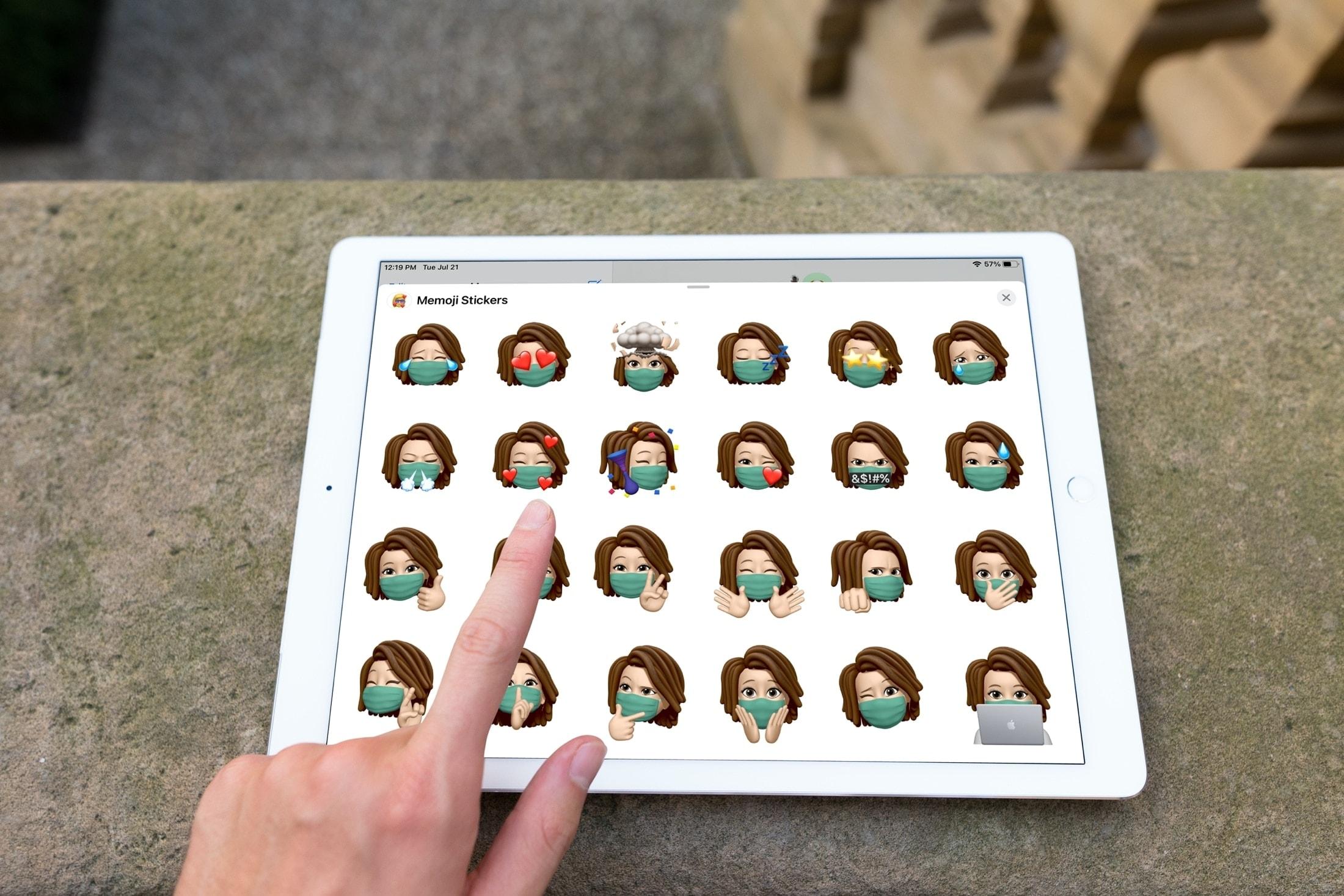 Zbierajte Memoji z krytu tváre na iPade