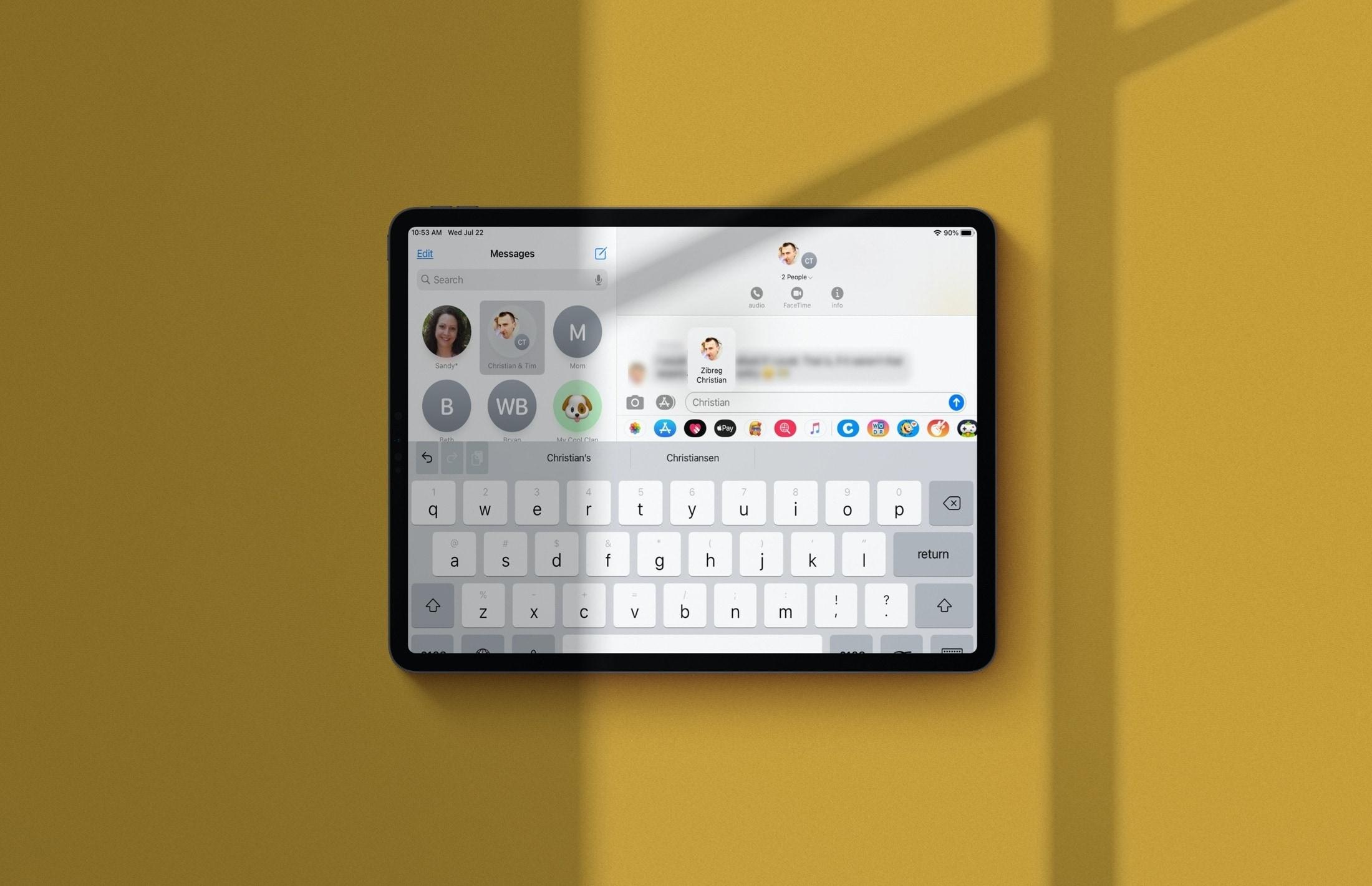 Zmienka v správach skupiny iPad