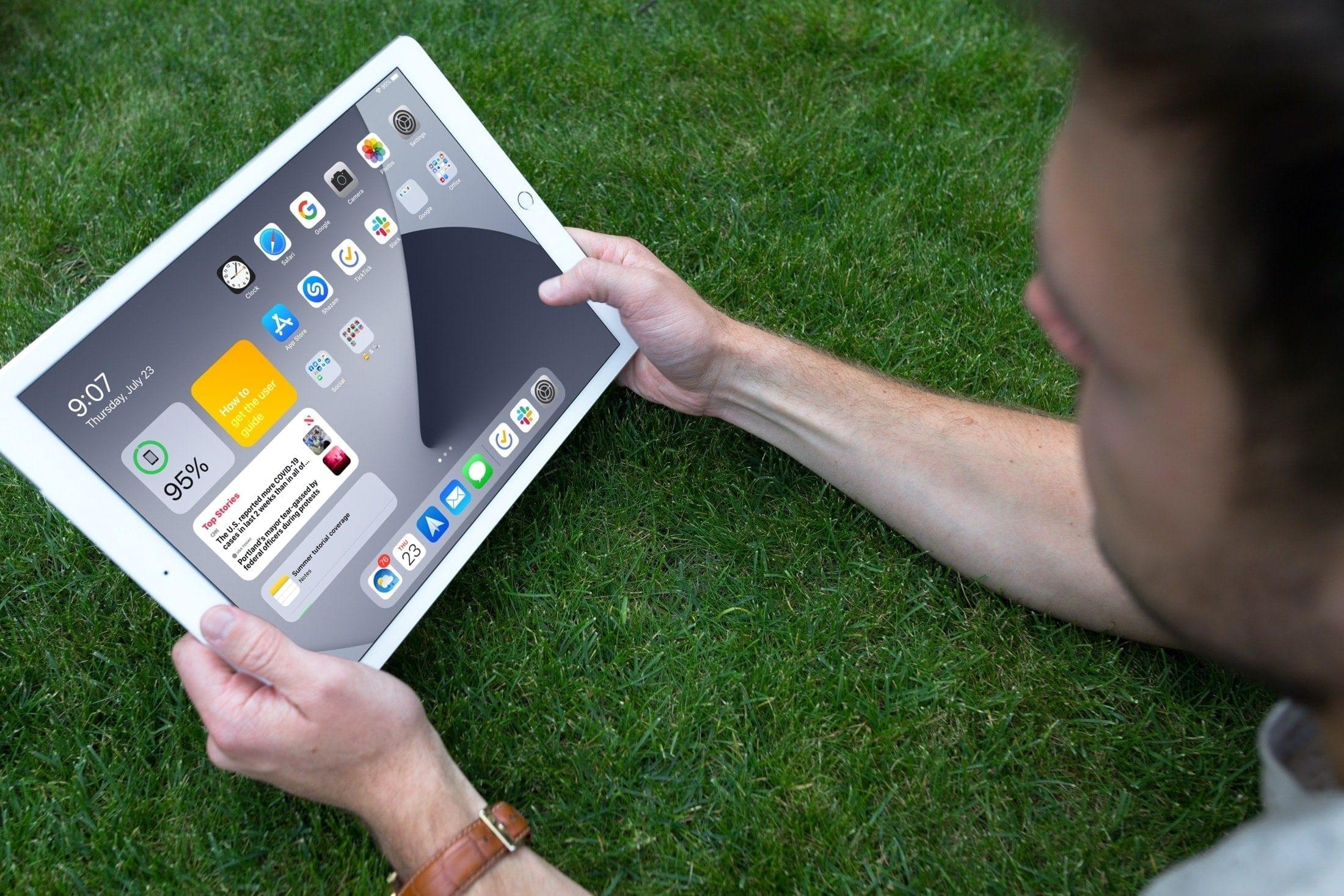 Tela inicial do iPad na tela Hoje